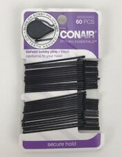 Conair Curved Bobby Pins with Pin Opener - Black - 60 Count - NEW