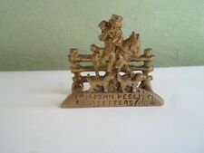 VINTAGE Rustic Lovely Small Brass Letter Rack With JOHN PEEL HUNTSMAN + HOUNDS