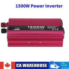 1500W Car Solar Power Inverter DC 12V to AC 110V Modified Sine Wave Converter CA