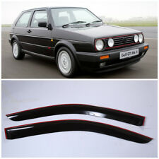 VE25183 Window Visors Guard Vent Wide Deflectors For VW Golf 2 II 3d 1983-1992