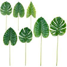 Planta Artificial Dividido Hoja Imitación Toque Vegetación Follaje Bush Un Tallo