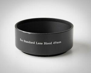 Vintage 49mm Standard Metal Lens Hood / Step Up Ring w/ 55mm  Front Thread