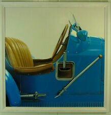 Günther J. Herrmann Bugati blau Fotorealismus Ölgemälde datiert 2002 signiert