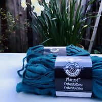 2 Skeins Loops & Threads Flaunt Coquette Ribbon Yarn Turquoise Super Bulky 27yd