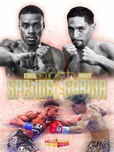 Errol Spence Jr vs Danny Garcia 4LUVofBOXING New Boxing Poster