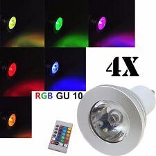 4x GU10 5W LED Bulb Light RGB 16 Colours Changing Bright + Remote Controller