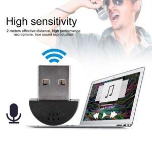 Mini Studio Speech USB Microphone Recording Audio MIC Adapter For Computer PC
