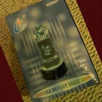 "NIB CRYSTAL ROTARY SLIDE SHOW Multi-Colored Light 4"" Silver BASE, Display"