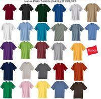 Hanes ComfortBlend Plain Blank Solid Short-Sleeve Men's T-Shirt 5170 2XL 3XL