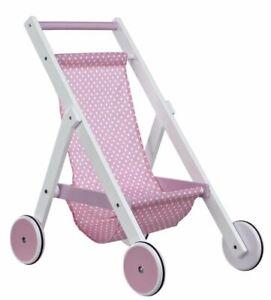 KIDS CONCEPT Puppenwagen weiss / rosa Bezug  NEU