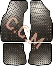 AUDI A4 1997 RUBBER FLOOR MATS FULLY TAILORED WITH 8 CLIPS (3MM & 5MM CHECKER)