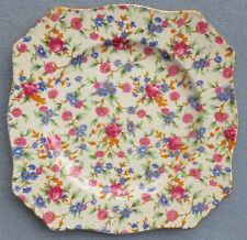 Royal Winton Old Cottage Chintz Square Lunch Plate