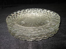 "Depression Glass Salad Plates, Waterford Waffle, 7 1/8""  diameter - Set of 5"