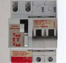 INTERRUTTORE DIFFERENZIALE MAGNETOTERMICO-BTICINO D823/47-2X47 A-6 KA-220V-30 mA