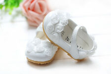 New Baby Girls White Christening Party Shoes 6-9 Months