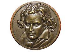 Art Deco German composer & pianist Ludwig van Beethoven Bronze Medal. M7c
