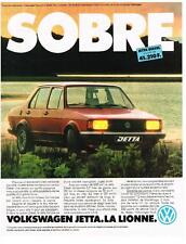 PUBLICITE ADVERTISING   1981   VOLKSWAGEN    JETTA  LA LIONNE SOBRE