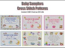 BABY SAMPLERS CROSS STITCH PATTERN BOOK