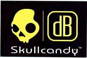 Skullcandy db Collection Headphones Skeleton Logo Black & Neon Yellow Sticker
