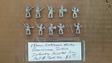 15mm Unknown make Renaissance  Turkish Infantry assorted poses