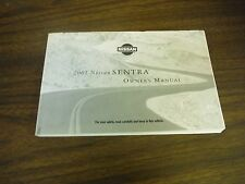 2001 Nissan Sentra Owner's Manual with Extras