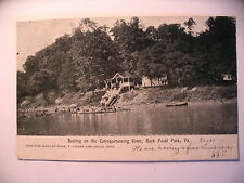 Boating On The Conoquenessing River in Rock Point Park Pa 1907