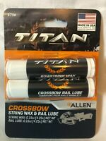 Allen Co. Titan Crossbow Bow String Wax for Synthetic Bowstrings + Rail Lube