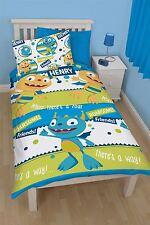 Disney Henry Hugglemonster Roar Rotary Reversible Single Bed Duvet Cover Set