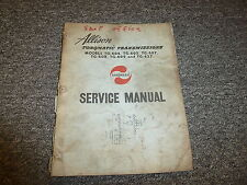 Allison Transmissions TG604 TG605 TG607 Torqmatic Shop Service Repair Manual