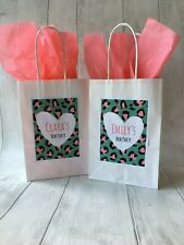 Personalised white Hen party favour, goodie bag, with tissue paper