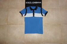 Dolce&Gabbana Black Label STRIPED Polo T-shirt 50 IT (S-M) Made in Italy, RARE