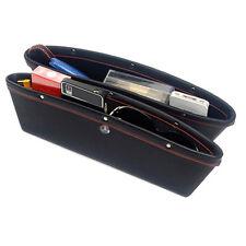 2xPU Leather Catch Catcher Box Caddy Car Seat Slit Pocket Storage Organizer BLAK