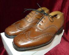 Lotus Mens Brown Tan Harry Leather Lace Up Brogue Shoes UK 7 Eu 40 BNWOT