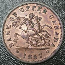 1857 BANK OF UPPER CANADA ONE PENNY BANK TOKEN - Dragon Slayer - BR 719  PC-6D