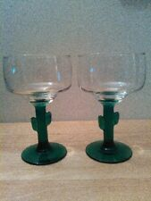 "set of 2 Libbey cactus margarita glasses, 6"", 10 oz."