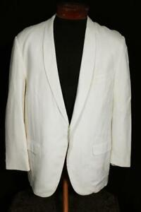 VINTAGE 1950'S AFTER SIX CREAM GABARDINE SHAWL COLLAR TUXED SIZE 40 SHORT