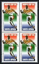 SOUTH AFRICA MNH 1998 Football World Cup - France Block of 4