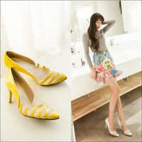 Womens Transparent Pointed Toe High Heel Stilettos Pumps Court Shoes Prom Shoes