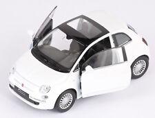 BLITZ VERSAND Fiat 500 2007 weiss / white Welly Modell Auto 1:34 NEU & OVP