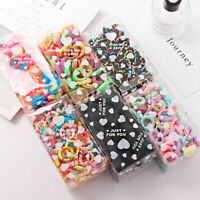 100Pcs Women Girl Hair Band Ties Elastic Rope Ring Hairband Ponytail Holder USA
