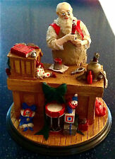 "Norman Rockwell Santas Workshop Collectors Edition 5.5x5.5"" Christmas Claus Toys"