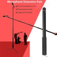 Micro Boom Pole Microphone Mic Holder 5 Section Boompole 35.5cm-150cm  US *