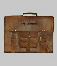 Genuine Vintage Attractive Leather Messenger Business Briefcase Satchel Bag