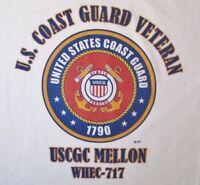 USCGC MELLON  WHEC-717* CUTTER U.S.COAST GUARD VETERAN EMBLEM*SHIRT