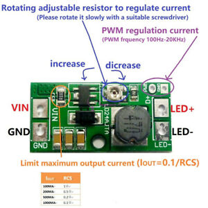 NEW DC 6-25V 20W Adjustable LED Driver PWM Controller DC-DC Step-down Constant