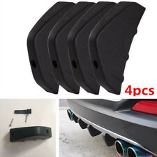 4Pcs SUV Car Rear Bumper Shark Fin Spoiler Black PVC Diffuser with Accessories
