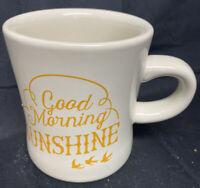 Now Designs Coffee Mug Cup Good Morning Sunshine Whte Yellow Print Birds Sun.#20