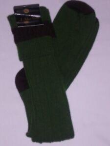 LONG WOOL  SOCK IN OLIVE  SIZE10/12 LARGE WALKING SHOOTING