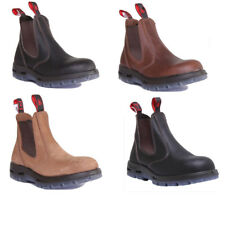 Red Back UBOK Womens Leather Ladies Black Chelsea Boots UK Size 3 - 8