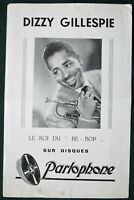"Dizzy Gillespie ""Le Roi du Be-Bop"" orig French Parlophone Records Flyer ca 1950"